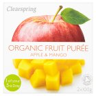 Clearspring Organic puree apple & mango - 2x100g