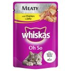 Whiskas Oh So meaty chicken pouch cat food - 85g Brand Price Match - Checked Tesco.com 29/07/2015