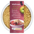 Waitrose bramley apple & blackberry crumble - 500g