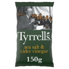 Tyrrell's sea salt & cider vinegar crisps - 150g Brand Price Match - Checked Tesco.com 30/07/2014