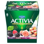 Danone activia prune & rhubarb & cranberry & fig yogurt - 8x125g Brand Price Match - Checked Tesco.com 16/04/2014