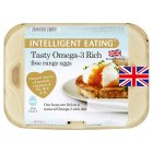 Intelligent Eating mixed weight British Omega-3 free range eggs - 6s