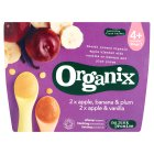 Organix organic fruit variety pack - stage 1 - 4x100g Brand Price Match - Checked Tesco.com 30/07/2014