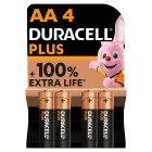 Duracell Plus Power AA Batteries Alkaline - 4s Brand Price Match - Checked Tesco.com 07/10/2015
