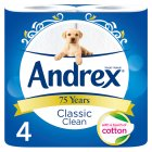 Andrex Classic White Toilet Rolls - 4x241s Brand Price Match - Checked Tesco.com 16/04/2014