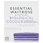 essential Waitrose colourcare washing powder, 30 washes - 2.4kg