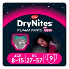 Drynites Pyjama Pants,Girl age 8-15 yrs, 27-57kg - 9s Brand Price Match - Checked Tesco.com 10/03/2014
