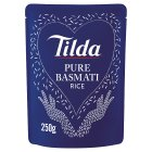 Tilda steamed pure basmati rice - 250g Brand Price Match - Checked Tesco.com 11/12/2013