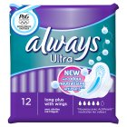 Always Ultra Long Plus with Wings Sanitary Pads - 12s Brand Price Match - Checked Tesco.com 28/07/2014