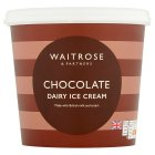 Waitrose chocolate dairy ice cream - 1litre