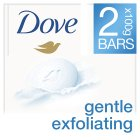 Dove exfoliating 2 pack beauty cream bar - 2x100g