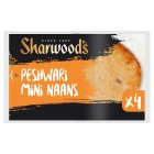 Sharwood's mini peshwari naans - 4s