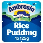 Ambrosia Devon Creamed Rice Pot - 4x125g Brand Price Match - Checked Tesco.com 23/07/2014