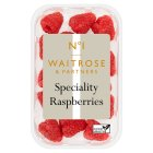 Waitrose 1 speciality raspberries - 125g