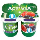 Danone activia fat free forest fruits yogurt - 4x125g Brand Price Match - Checked Tesco.com 05/03/2014
