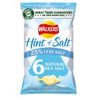 Walkers Lights simply salted multipack crisps - 6x24g