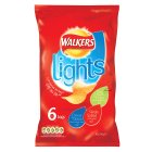 Walkers Lights variety multipack crisps - 6x24g