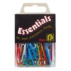 Essentials coloured paperclips