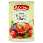 Baxters vegetarian tomato with basil soup