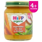 Hipp organic vegetables with rice and chicken - stage 1 - 125g