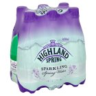 Highland Spring spring sparkling water - 6x500ml