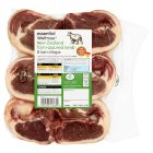 essential Waitrose New Zealand frozen lamb loin chops - 500g