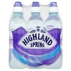 Highland spring spring still water sports cap - 6x500ml
