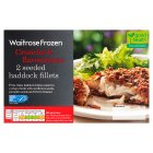 Waitrose frozen 2 line caught haddock fillets in a seeded crust - 260g