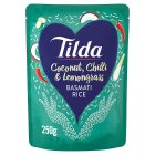 Tilda steamed coconut chilli & lemongrass basmati rice - 250g