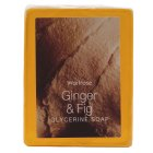 Waitrose ginger & fig glycerine soap - 100g