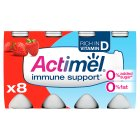 Actimel 0.1% fat strawberry - 8x100g Brand Price Match - Checked Tesco.com 05/03/2014