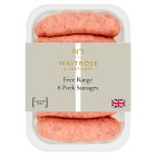 Waitrose 6 British free range pork sausages - 400g