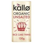 Kallo organic unsalted wholegrain rice cakes - 130g