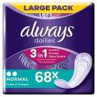 Always Dailies Normal Pantyliner 60PK - 60s Brand Price Match - Checked Tesco.com 17/08/2016