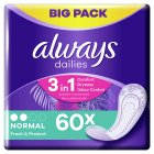 Always Dailies Normal Pantyliner 60PK - 60s Brand Price Match - Checked Tesco.com 17/12/2014