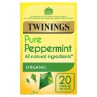 Twinings organic peppermint 20 tea bags - 40g