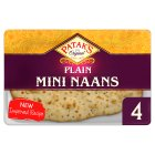 Patak's plain mini naans - 4s