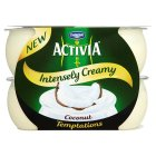 Danone Activia intensely creamy coconut temptations - 4x110g Brand Price Match - Checked Tesco.com 21/04/2014