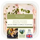 Waitrose British boneless chicken thighs with pork & apple stuffing - 501g