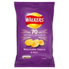 Walkers crisps Worcester sauce - 6x25g Brand Price Match - Checked Tesco.com 08/02/2016