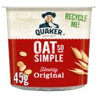 Quaker Oat So Simple original porridge cereal pot - 50g Brand Price Match - Checked Tesco.com 28/05/2015