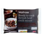 Waitrose British beef chilli mince - 350g