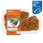 Waitrose MSC 2 line caught haddock fillets in a mixed seed crumb - 260g