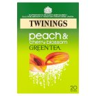 Twinings peach and cherry blossom green tea 20 tea bags - 40g