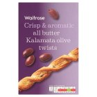 Waitrose black olive & Basil twists - 125g