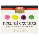 Queen natural extracts food colouring - 4x7ml