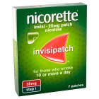 Nicorette invisi patch, 25mg - 7s Brand Price Match - Checked Tesco.com 16/04/2014
