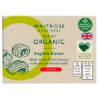 Waitrose Duchy Organic English salted butter - 250g