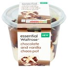 essential Waitrose chocolate & vanilla chaos pot - 475g