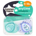 Tommee Tippee 6-18month anytime boy soothers, pack of 2, assorted - 6 - 18 months